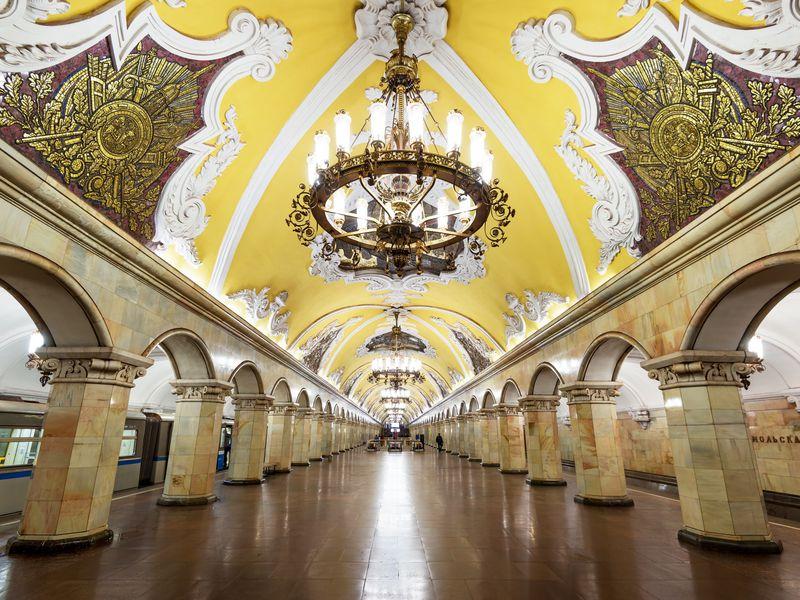 Экскурсия Онлайн-экскурсия «Московское метро— подземный храм СССР»