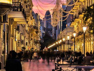 Баку вечерний и огненный Янардаг