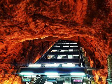 Стокгольмское метро – волшебная подземная пещера!