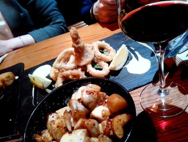 Мадрид со вкусом фасоли и кальмаров