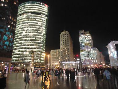 Вечерний Берлин. Огни большого города