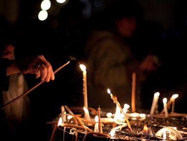 Храм Рождества в Вифлееме и Масличная Гора