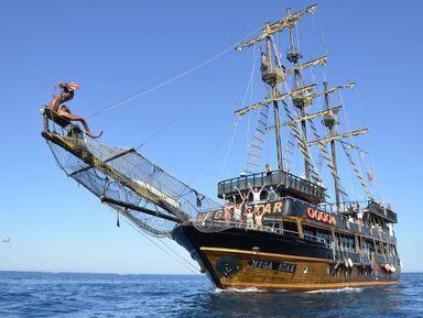 ИзАнталии— кберегам Кемера напиратской яхте!