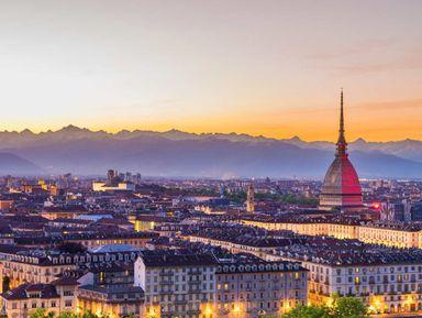 Панорамный Турин назакате