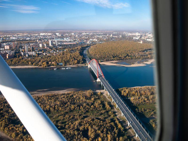 Над Новосибирском насамолёте!