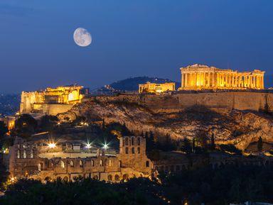 Афины — магия вечернего города