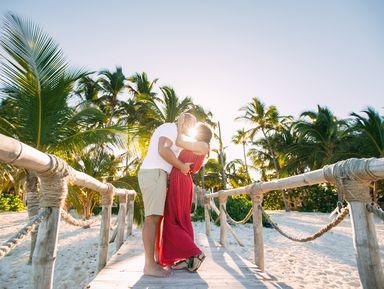 Романтическая фотосессия начастном пляже в Пунта-Кане