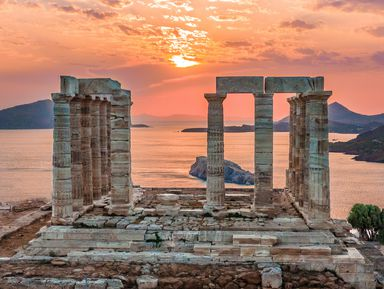 Термальное озеро Вулягмени и храм Посейдона