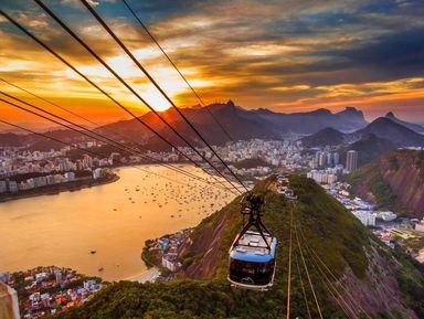 На канатной дороге к лучшим видам Рио!