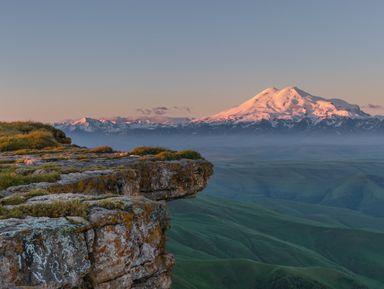 Закат и рассвет с видом на Эльбрус!