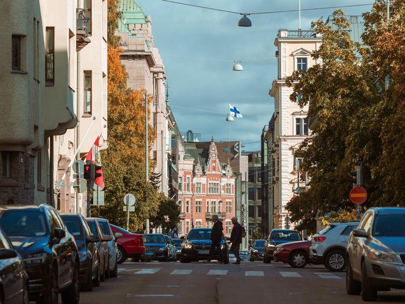 Фото: По Хельсинки на автомобиле Mersedes Benz B-class