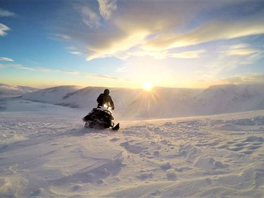 По Хибинам на снегоходе!