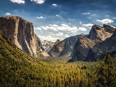 Парк Йосемити: секвойи, водопады, скалы