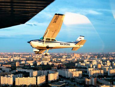 Полёт над Москвой на самолёте!