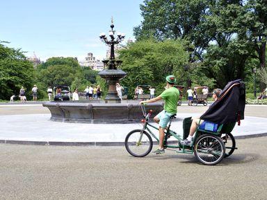 По Центральному парку на велорикше
