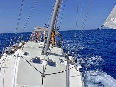 Морская прогулка на парусной яхте