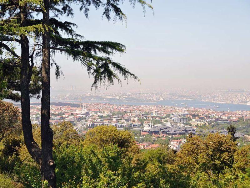 Азиатский Стамбул отрассвета дозаката