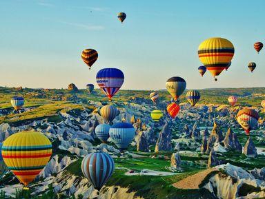 Вся Каппадокия с высоты полета на воздушном шаре
