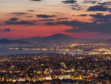 Закат над Афинами и вечерняя Плака