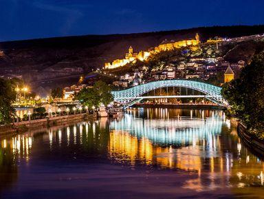 Панорамы вечернего Тбилиси