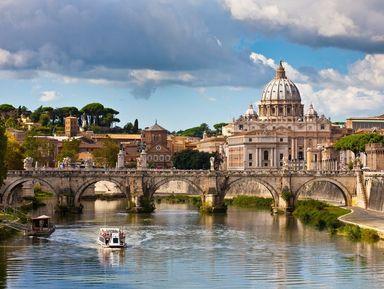 Утренний Рим с купола Собора Святого Петра