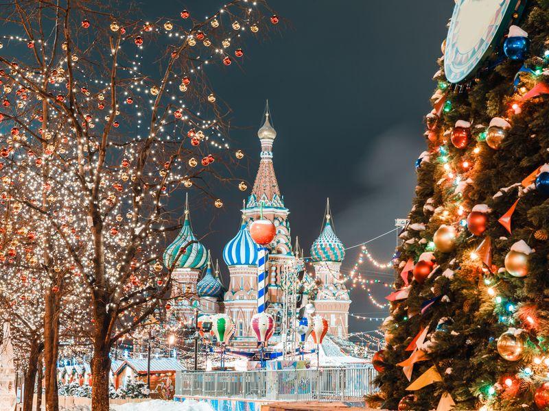 Экскурсия Прогулка с Дедом Морозом по новогодней Москве