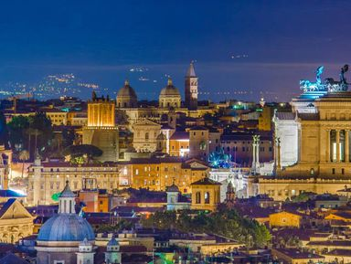 Вечерний Рим накабриолете