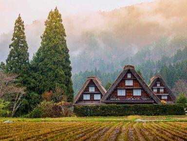 Онлайн-прогулка по японской деревне Сиракава-го