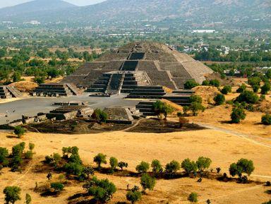 Мехико-Cити ипирамиды Теотиуакана